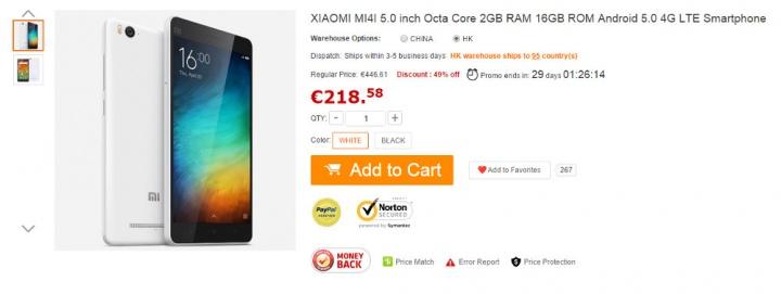 Imagen - Compra el Xiaomi Mi 4i en oferta desde España