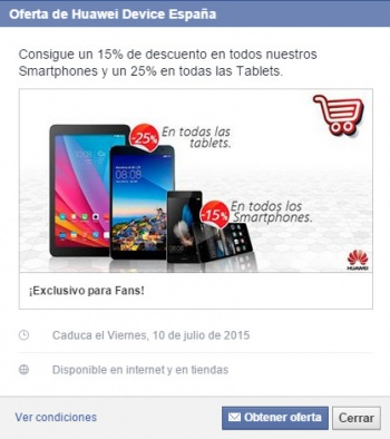 Imagen - Consigue un 25% de descuento en tablets y 15% en smartphones de Huawei