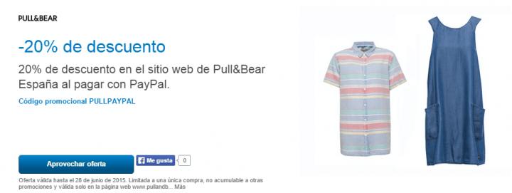 Imagen - Consigue un 20% de descuento en Pull & Bear gracias a PayPal