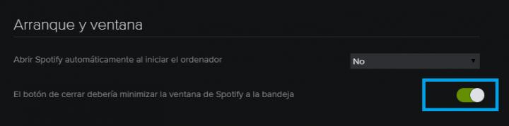 Imagen - Cómo minimizar Spotify a la bandeja