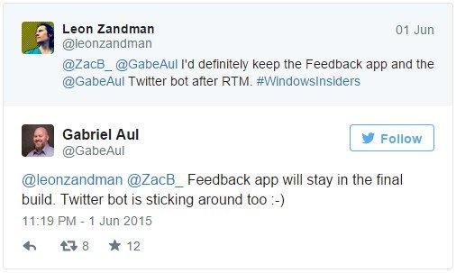 Imagen - Windows 10 permitirá que el usuario opine y envíe feedback