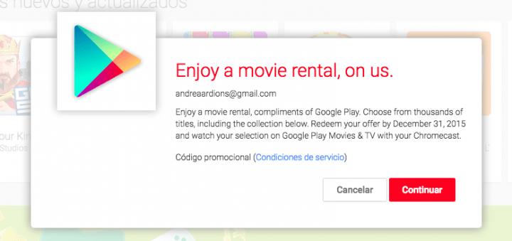 Imagen - Chromecast te regala una película de alquiler, descubre cómo canjearla