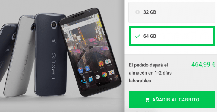 Imagen - Nexus 6 desde 419 euros en Google Store