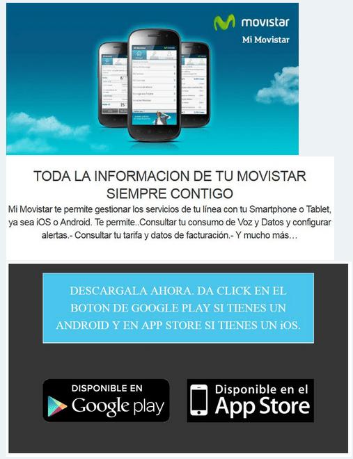 Imagen - Alerta sobre correos spam usando como reclamo la app Mi Movistar