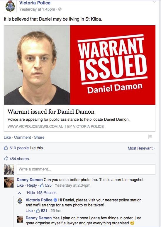 Imagen - Un fugitivo se ríe de la policía en Facebook