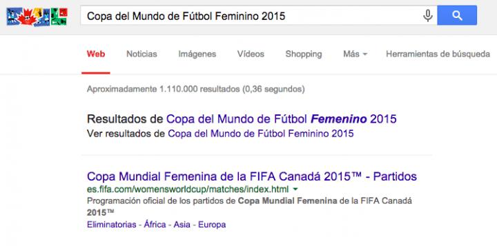Imagen - Google celebra la Copa del Mundo de Fútbol Femenino 2015 con un Doodle