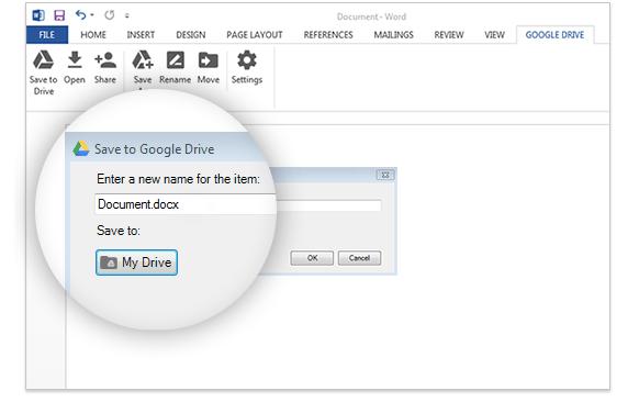 Imagen - Microsoft Office ya ofrece soporte para Google Drive