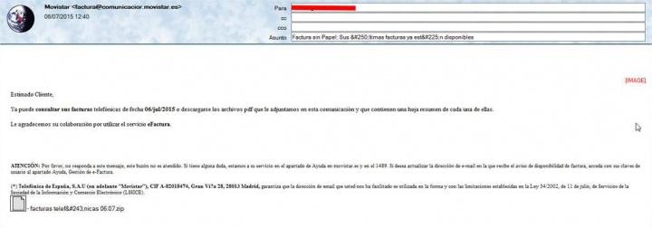 Imagen - Otro virus más se extiende aprovechando las facturas de Movistar