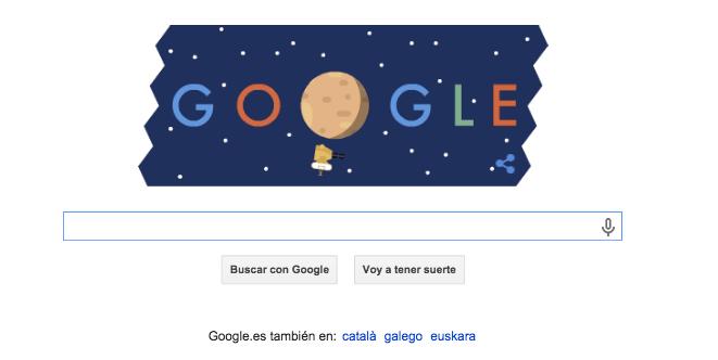 Imagen - Google celebra la llegada del New Horizons a Plutón con un Doodle