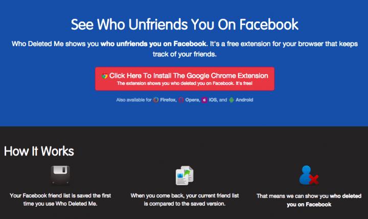 """Imagen - Cómo saber quién te elimina de Facebook con """"Who Deleted Me on Facebook"""""""