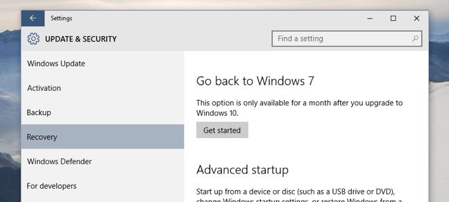 Imagen - Cómo volver a Windows 7/8 desde Windows 10