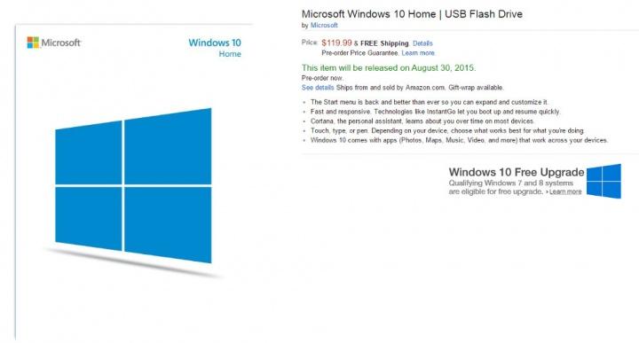 Imagen - Windows 10 ya disponible para comprar en pendrive