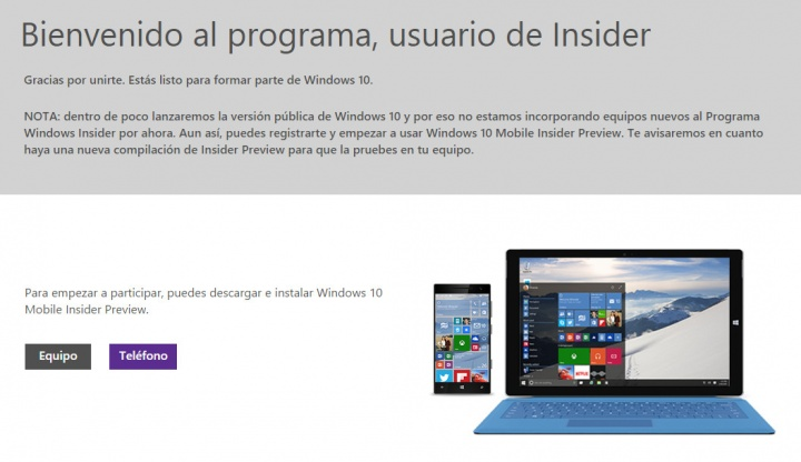 Imagen - Microsoft cierra el programa Windows 10 Insider