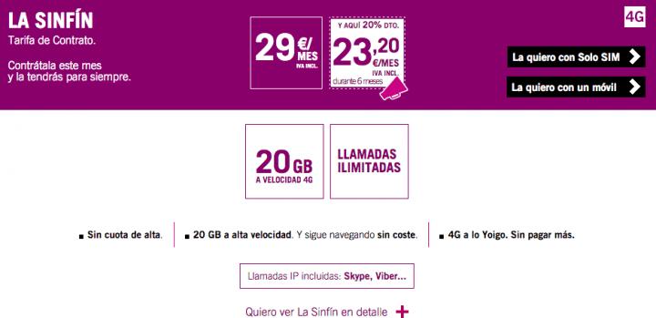 Imagen - Yoigo eliminará la tarifa SinFín en septiembre
