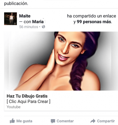 "Imagen - Elimina ""Haz tu Dibujo Gratis"" en Facebook"
