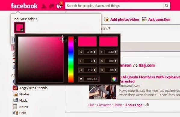 Imagen - Cuidado con el timo de cambiar el color de Facebook