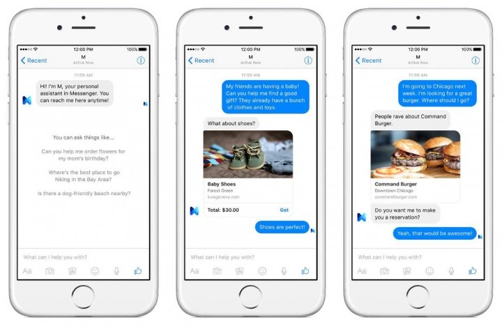 Imagen - Facebook presenta un asistente personal dentro de su Messenger