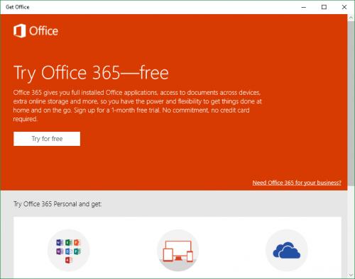 Imagen - Prueba Office 365 gratis gracias a Windows 10