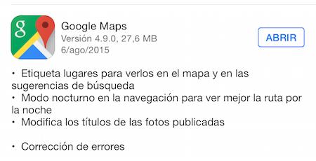 Imagen - Google Maps para iOS añade el Modo Nocturno