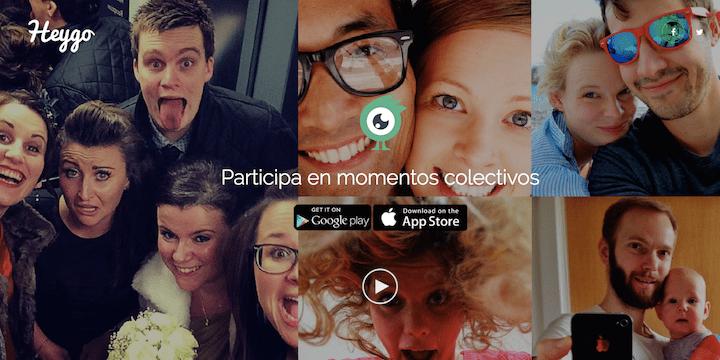 Heygo, la red social para compartir Momentos
