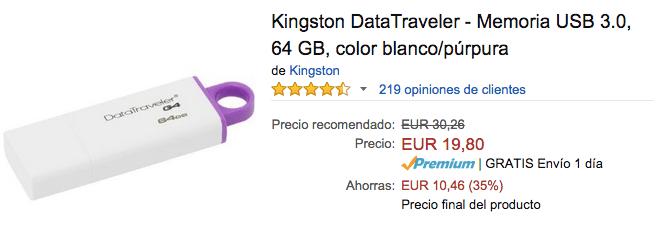 Imagen - Kingston DataTraveler G4 64GB: pendrive por solo 20 euros