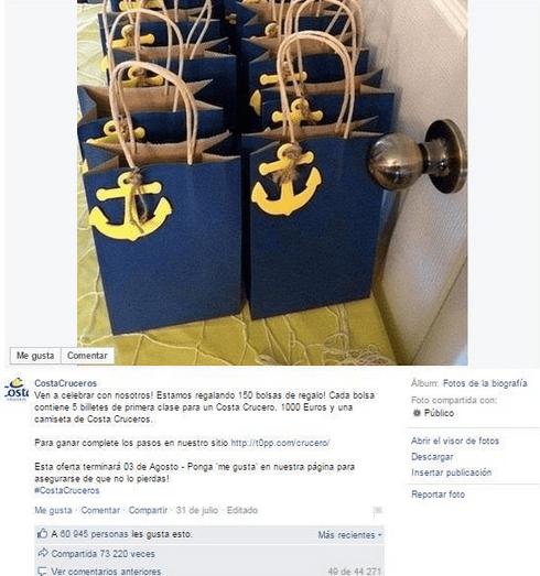 Imagen - Cuidado con el masivo de cruceros gratis en Facebook
