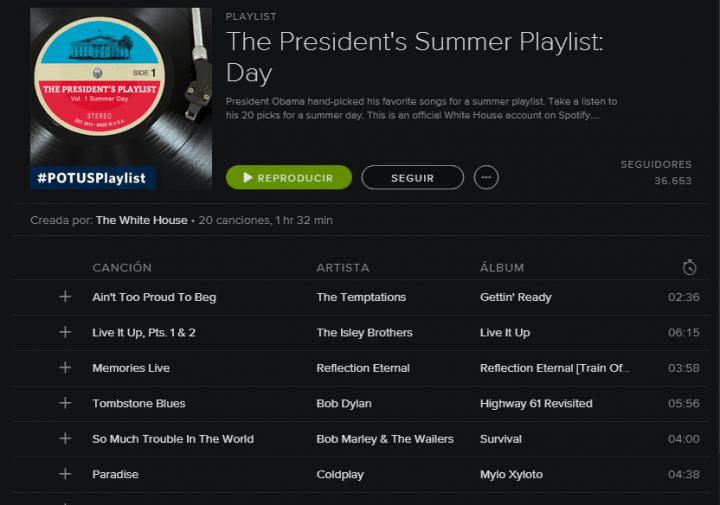 Imagen - Escucha las playlists de Obama en Spotify