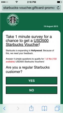 Imagen - Se extiende una estafa sobre Starbucks por WhatsApp