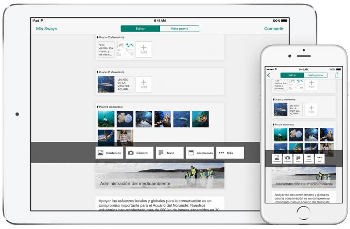 Imagen - Descarga Sway, la nueva app para crear impresionantes presentaciones