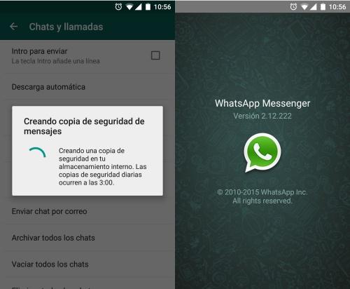 Imagen - Descarga WhatsApp 2.12.222 con la copia de seguridad a las 3:00 horas