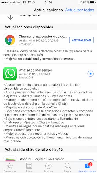 Imagen - Actualización de WhatsApp para iOS: marcar como no leído, notificaciones y ahorrar datos