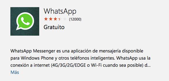 Imagen - Descarga WhatsApp para Windows Phone con nuevas funcionalidades