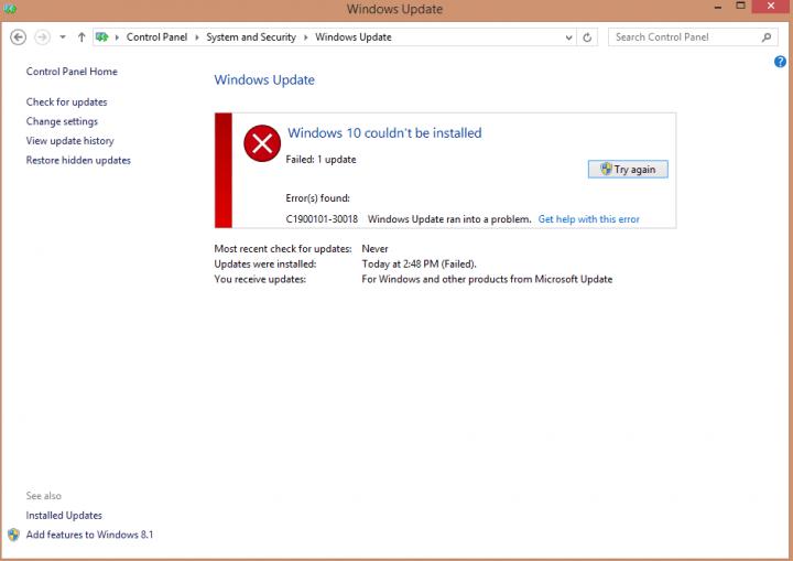 Imagen - Cómo solucionar el error C1900101-30018 de Windows 10