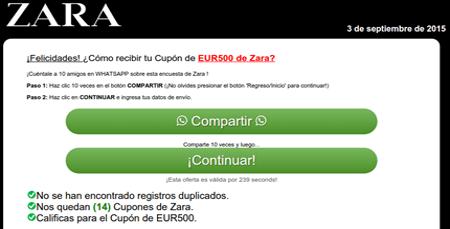 Imagen - Cuidado con los falsos cupones de Zara ¡no los compartas!