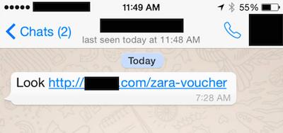 Imagen - ¡Cuidado! Difunden estafas de Zara y H&M por WhatsApp