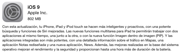 """Imagen - Problemas para actualizar a iOS 9: """"Error al actualizar el software"""""""