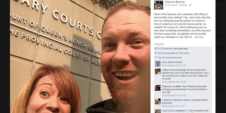 Celebran con un selfie su divorcio y se hace viral