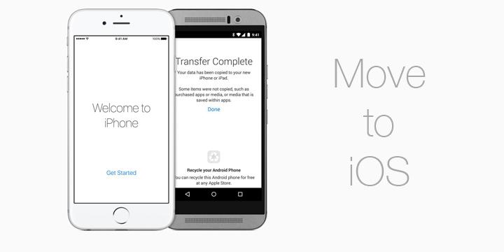 Move to iOS, la app de Apple para migrar Android a iOS
