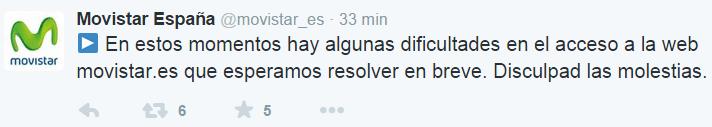 Imagen - La web de Movistar caída totalmente