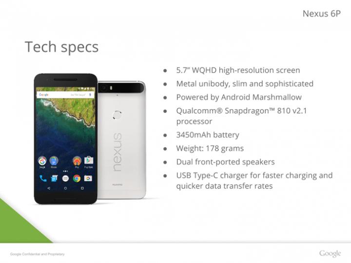 Imagen - El Nexus 6P filtrado en detalle: más fotos oficiales y especificaciones