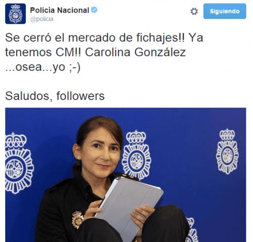 Imagen - La Policía ya tiene nueva community manager