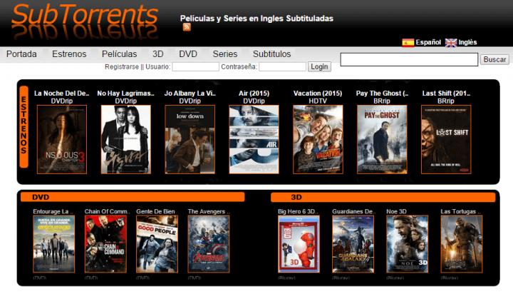 Subtorrents, películas y series por torrent