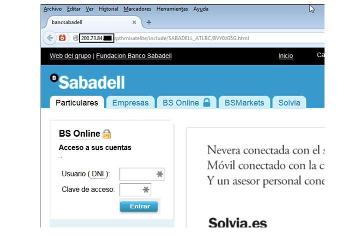 Imagen - Cuidado con las falsas webs de Banco Sabadell