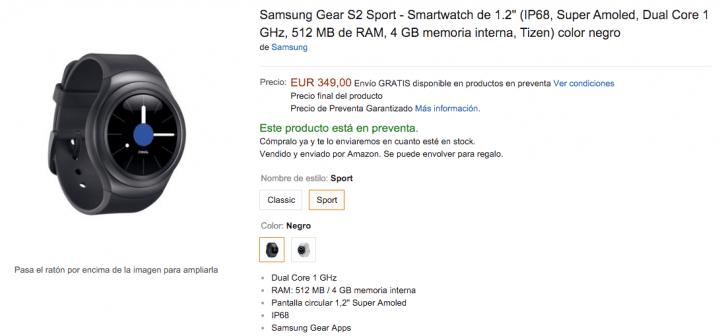 Imagen - Samsung Gear S2 disponible en España desde 349 euros
