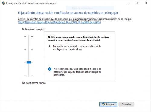 Imagen - El Control de cuentas de usuario (UAC) de Windows 10 causa problemas