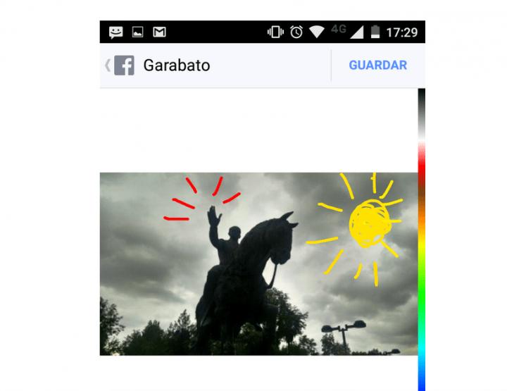 Imagen - La app de Facebook ya permite dibujar en las fotos