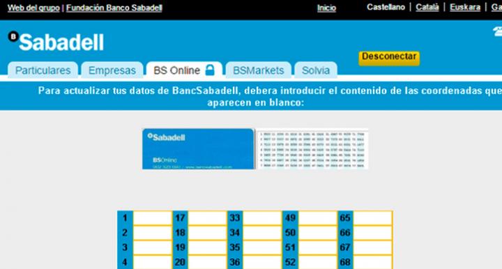 Cuidado con las falsas webs de Banco Sabadell