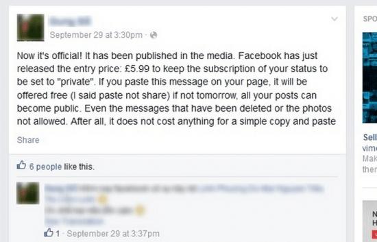 Imagen - Corre el rumor de que Facebook mantendrá tus publicaciones en privado si pagas