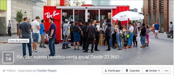 Imagen - Circula un evento en Facebook que ofrece falsas ofertas en Ray-Ban