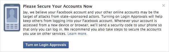 Imagen - Facebook te avisará si un gobierno te espía